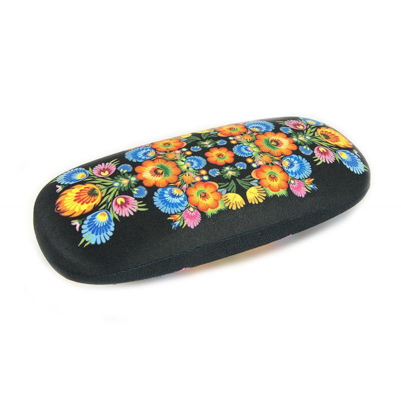 folkowe etui z wzorem kwiatowym łowickim