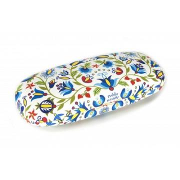 folkowe etui na okulary kaszubskie kwiaty