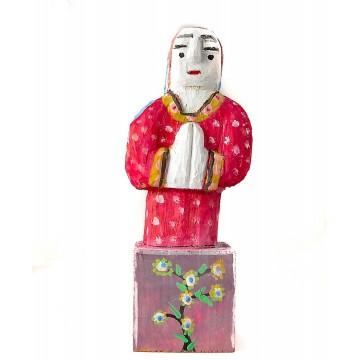 ludowa rzeźba kapliczka z madonna dionizy purta