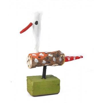 rzeźba drewniana ptak cudak 7