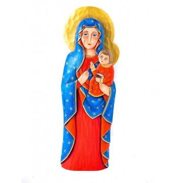 Matka Boska częstochowska rzeźba ludowa