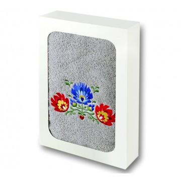 ręcznik z haftem ludowym łowicz kwiaty