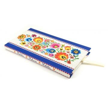 notes ludowe kwiaty w ramce łowicz
