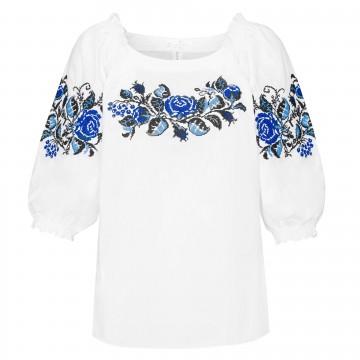bluzka z kwiatowym haftem krzyzykowym