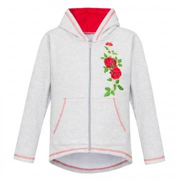 folkowa bluza z ludowym haftem kwiatowym