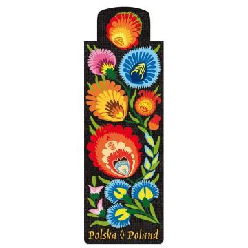 folkowa zakładka magnetyczna ludowe kwiaty