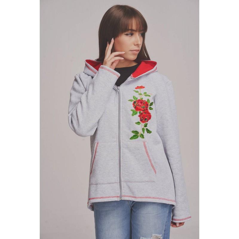 folkowa bluza z ludowym haftem kwiaty