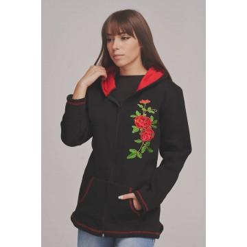 folkowa bluza z haftem ludowe kwiaty  róże