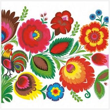 folkowe serwetki papierowe ludowe kwiaty