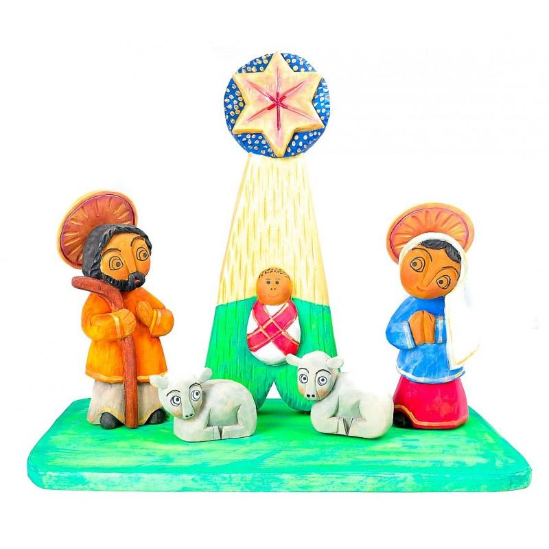 ludowa szopka stajenka w drewnie bożonarodzeniowa wojtczak