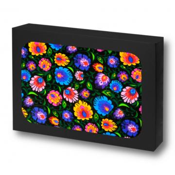 pościel ludowe kwiaty czarna