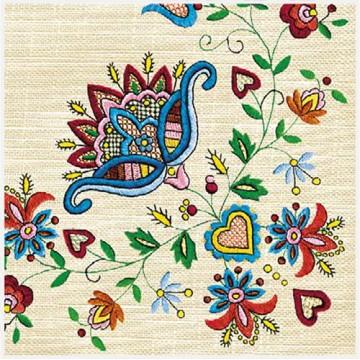 ludowe serwetki papierowe kaszubski haft wdzydze
