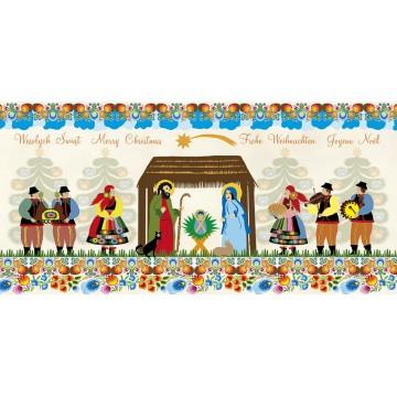kartka świąteczna karnet ludowa szopka