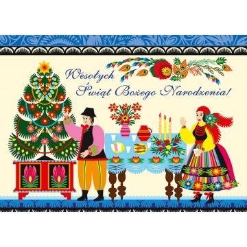 świąteczna kartka wigilia ludowa