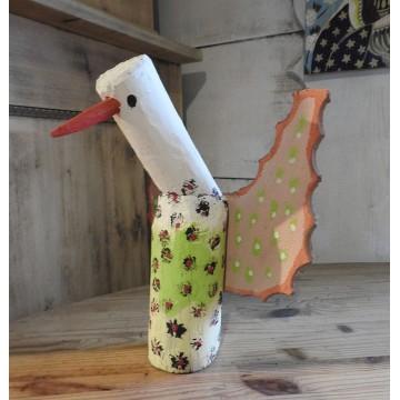 ludowa rzeźba ptak cudak dionizy purta ptasior w cętki