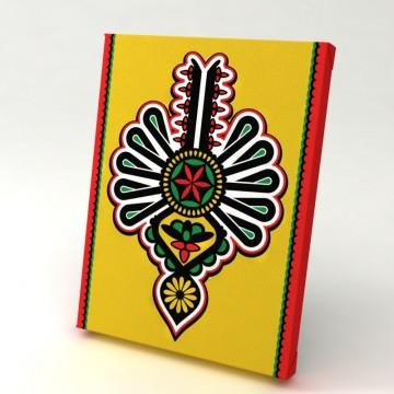 folkowa grafika z parzenicą kolor ludowy