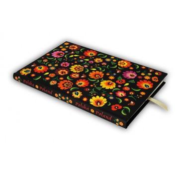 folkowy notes dziennik ludowe kwiaty