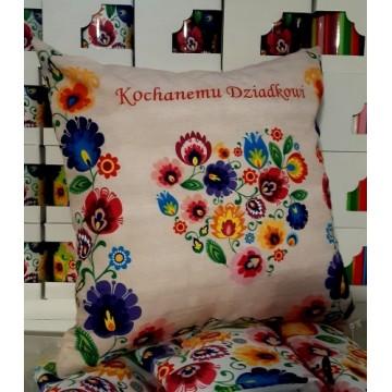 folkowa poduszka dzien dziadka