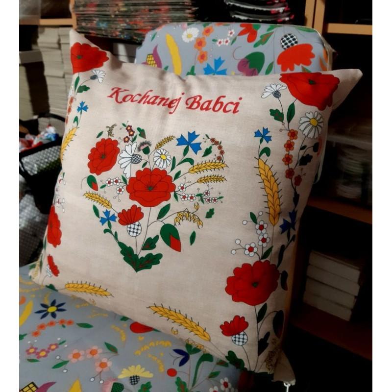 folk poduszka dla babci kociewie ludowe