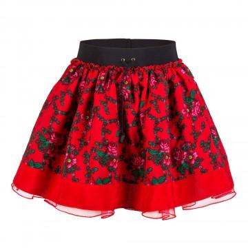 dziewczęca spódnica ludowe kwiaty