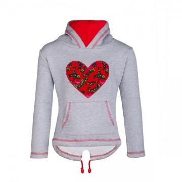 folk bluza z ludowym sercem dla dziecka