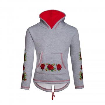 bluza dziecięca z ludowym haftem róże