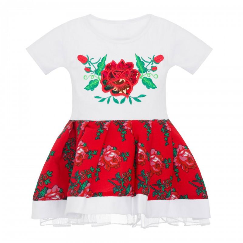 sukienka z ludowym haftem dla dziewczynki