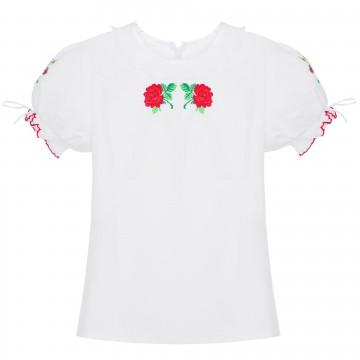ludowa bluzeczka z haftem róży
