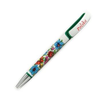 Długopis kwiaty zalipie