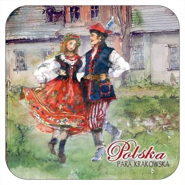 folkowa podstawki pod kubek ludowa para krakowska