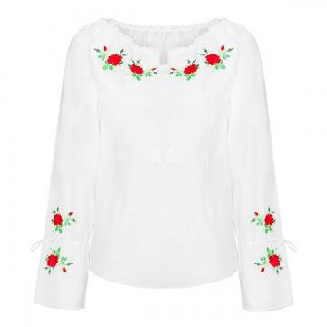 bluzka do stroju ludowego z haftem róże