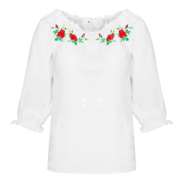 bluzka z ludowym haftem kwiaty do stroju