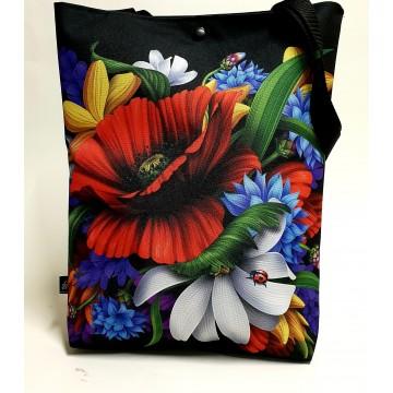torba folkowe kwiaty wiejskie