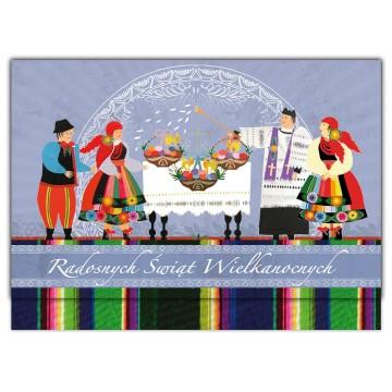 kartka świąteczna ludowa wielkanoc