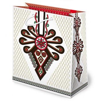 torba prezentowa z parzenicą folk mał