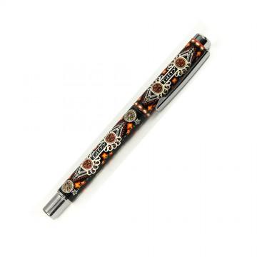 ludowy długopis żelowy z parzenicą