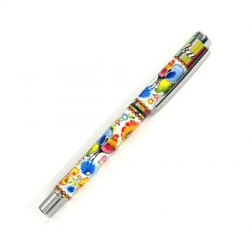 folkowy długopis żelowy koguty