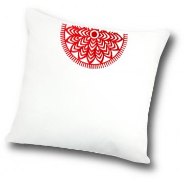 poduszka z ludowym haftem kurpie