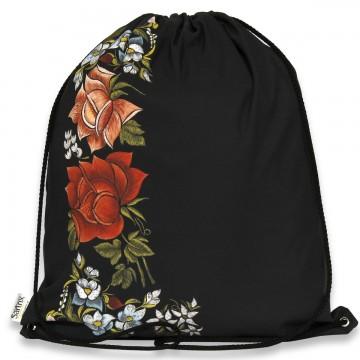 folkowy plecak łowickie róże