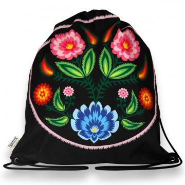 worek ludowe kwiaty wycinanka