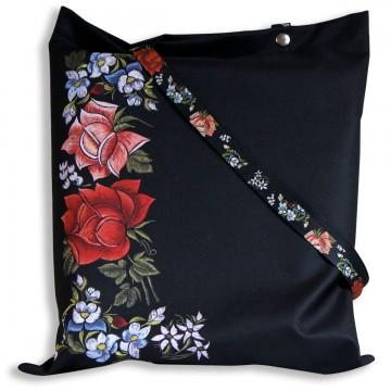 torba na zakupy ludowe róże