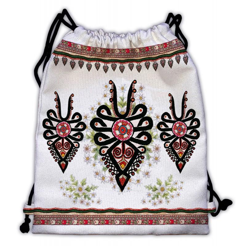 folkowy plecak worek parzenice