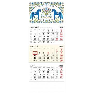 kalendarz trójdzielny kaszubskie konki ludowe