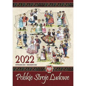 kalendarz ścienny  polskie stroje ludowe