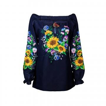 bluzka haftowana słoneczniki
