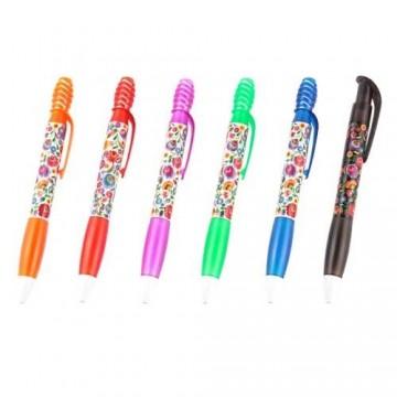 Długopis łowickie kwiaty