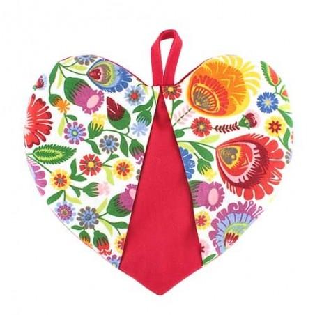 Łapka serce kwiaty łowickie