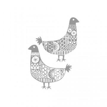 Folk naklejka etno ptaszki