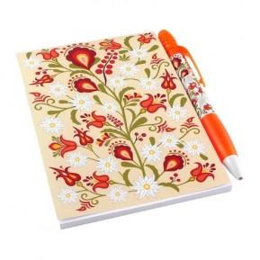 Zestaw notes kwiaty podhalańskie krem
