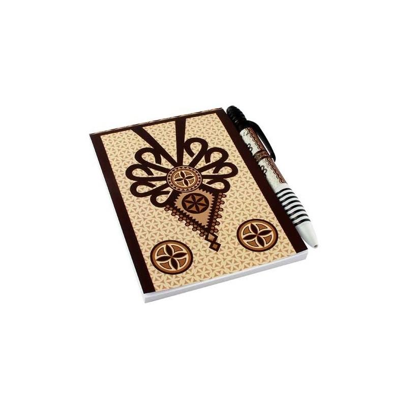 Zestaw notes parzenica brąz